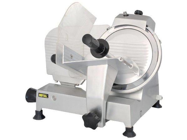 Buffalo Fleischschneidemaschine Aluminium | Integrierte Messerschärfer | 25cm Messer