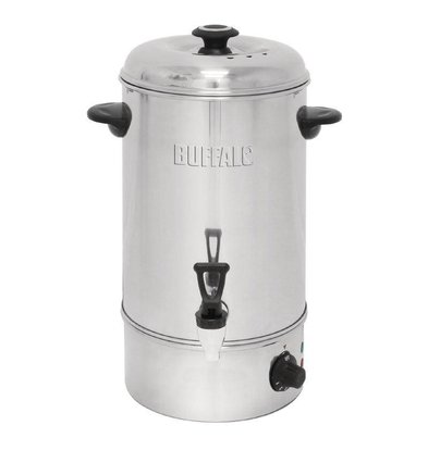 Buffalo Hot water dispenser stainless steel | Drip Free Crane | Ø326mm | 10 liters