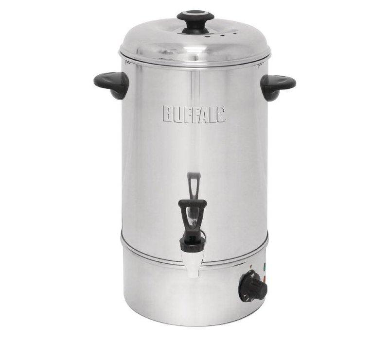 Buffalo Hot Water Dispenser Edelstahl | Freier Fall-Kran | Ø326mm | 10 Liter