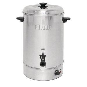 Buffalo Hot Water Dispenser Edelstahl mit Reset-Taste | Nicht tropf Hahn | 30 Liter