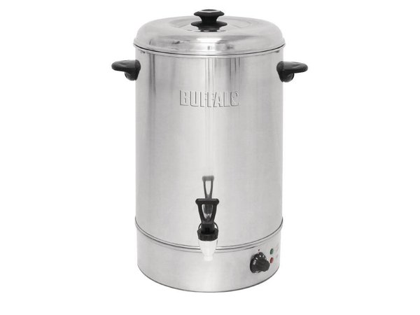 Buffalo Hot Water Dispenser Stainless Steel with Reset Button | Non-drip faucet | 30 Liter