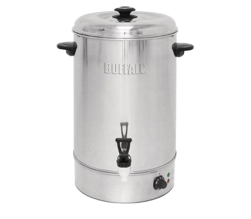 Buffalo hot water dispenser stainless steel with reset