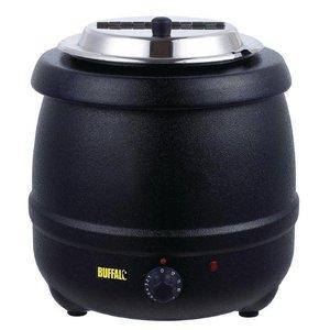 Buffalo Soepketel Zwart   10 Liter   Verstelbare Warmteregelaar