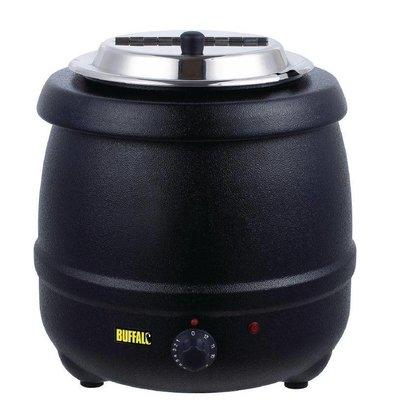Buffalo Suppenkessel Schwarz | 10 Liter | Einstellbare Heizregler