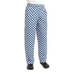XXLselect Cooks Pants Checkered Blue / White | Chef Works Easyfit | cotton | Available in 6 sizes