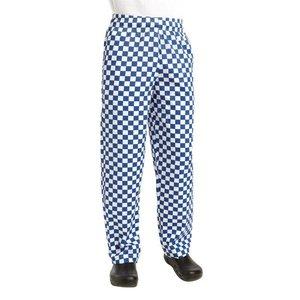 XXLselect Köche Hosen Checkered Blau / Weiß | Chef Works Easyfit | Baumwolle | Erhältlich in 6 Größen