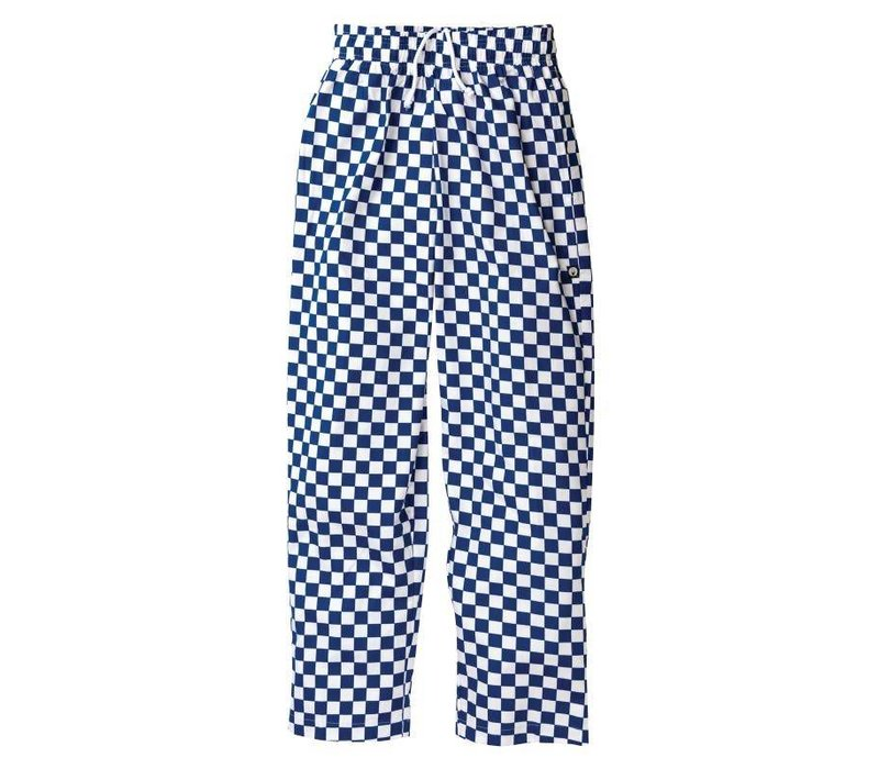 Chef Works Cooks Pants Checkered Blue / White | Chef Works Easyfit | cotton | Available in 6 sizes