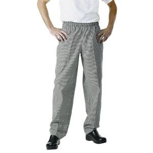 XXLselect Cooks Pants Checkered Black / White | Chef Works Easyfit | cotton | Available in 6 sizes