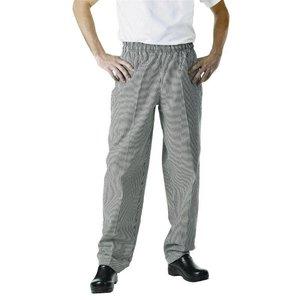 XXLselect Köche Hose Checkered Schwarz / Weiß | Chef Works Easyfit | Baumwolle | Erhältlich in 6 Größen