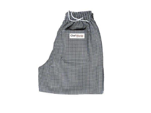 Chef Works Köche Hose Checkered Schwarz / Weiß | Chef Works Easyfit | Baumwolle | Erhältlich in 6 Größen