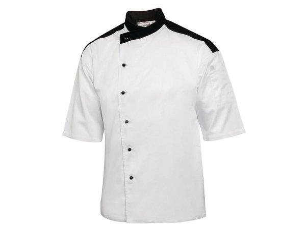 Chef Works Koksbuis Metz Wit met Korte Mouwen | Chef Works | Katoen | Beschikbaar in 4 Maten