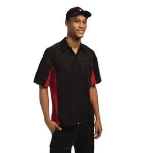 XXLselect Contrast Shirt Zwart/Rood | Chef Works | Cool Vent | Beschikbaar in 4 Maten