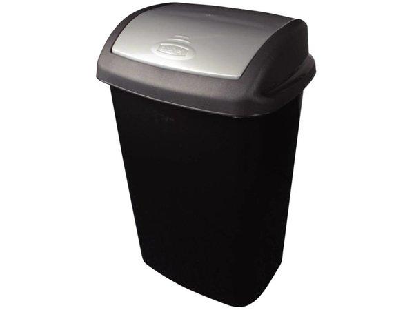 Curver Afvalbak + Schommeldeksel | Zwart | Curver | 50 Liter