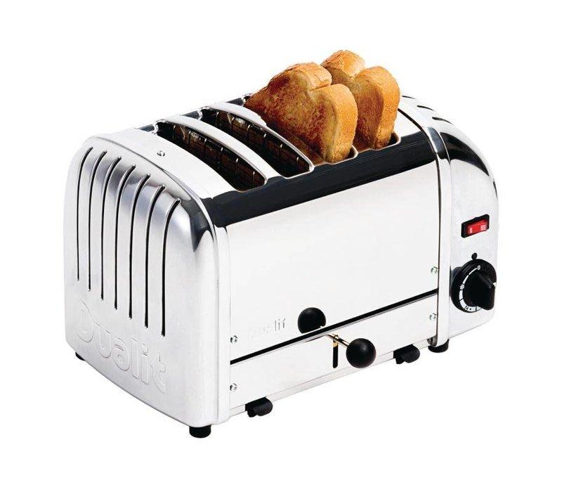 Dualit Dualit Toaster Edelstahl | 4 Slots | Scheiben von bis zu 130 p / h