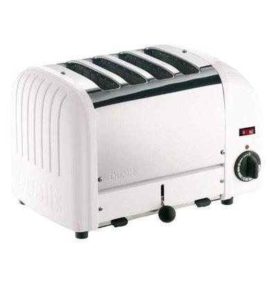 Dualit Dualit Toaster Weiß | 4 Slots | Scheiben von bis zu 130 p / h