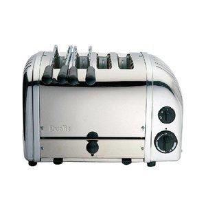 Dualit Combi Toaster RVS   2+2 Sleuven   Dualit   2 Tostiklemmen