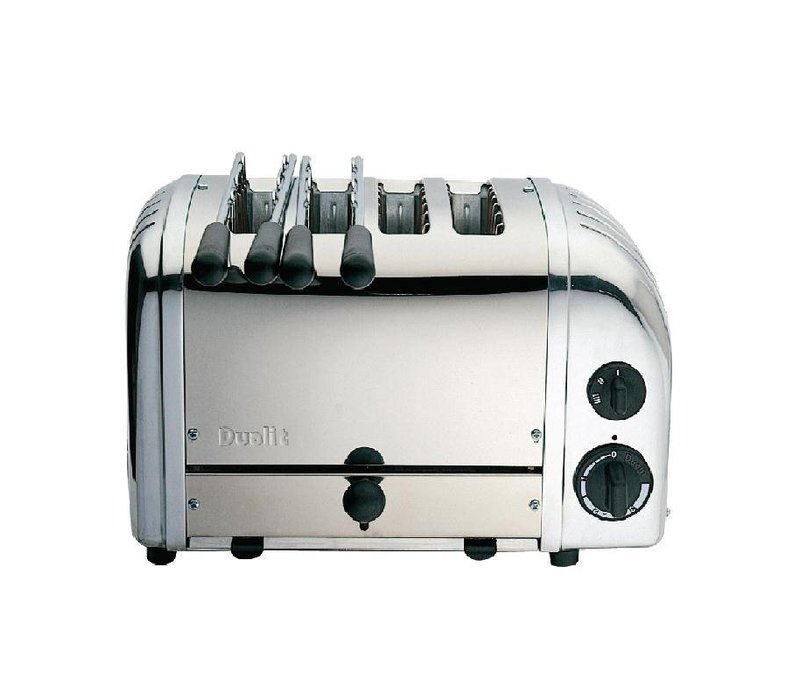 Dualit Combi Toaster Stainless Steel | 2 + 2 Slots | Dualit | 2 Tostiklemmen