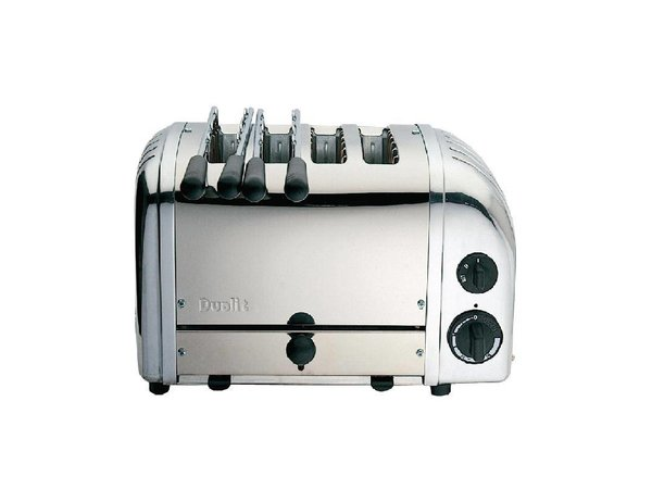 Dualit Kombination Toaster Edelstahl | 2 + 2 Slots | Dualit | 2 Tosti Clips