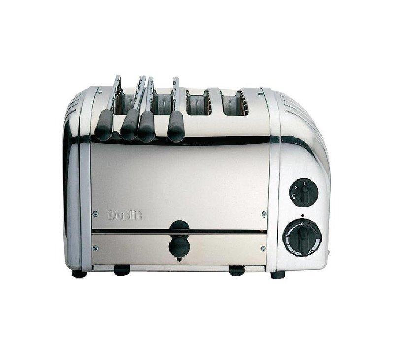 Dualit Combi Toaster RVS | 2+2 Sleuven | Dualit | 2 Tostiklemmen