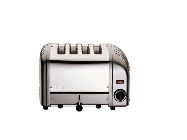 Dualit Toaster Grau   4 Slots   Dualit   Scheiben von bis zu 130 p / h