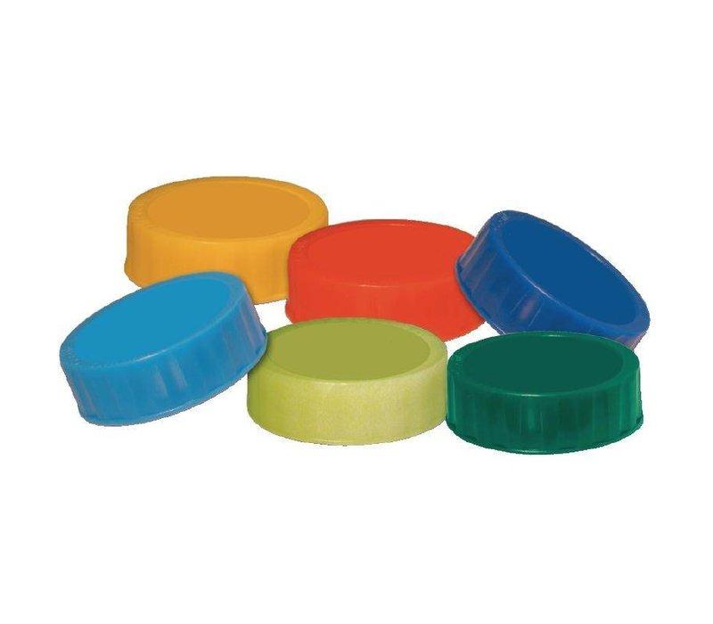 FIFO Gekleurde Doppen | voor FIFO Sausdispenser | 6 Stuks