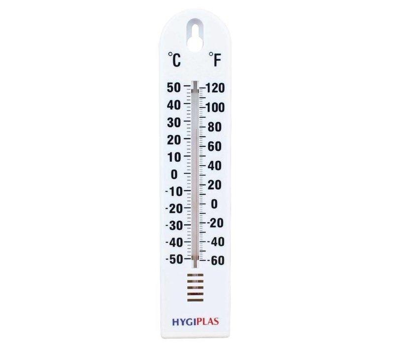 Hygiplas Muurthermometer | -40°C tot +50°C | Hygiplas