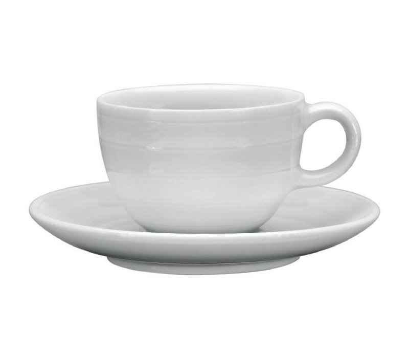 XXLselect Espressokop + Schotel | Intenzzo White | 110ml | 4 Stuks