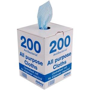 XXLselect Multifunctionele Doekjes | Anti-Bacterieël | Blauw | Per 200