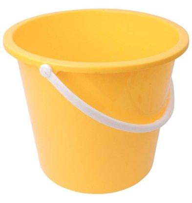 Jantex Kunststoff-Eimer | 10 Liter | gelb