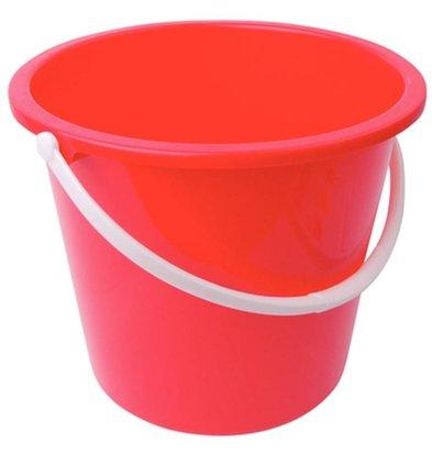 Jantex Kunststoff-Eimer | 10 Liter | rot