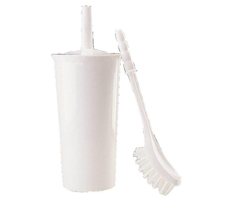 XXLselect Toiletborstel + Houder Wit | Jantex