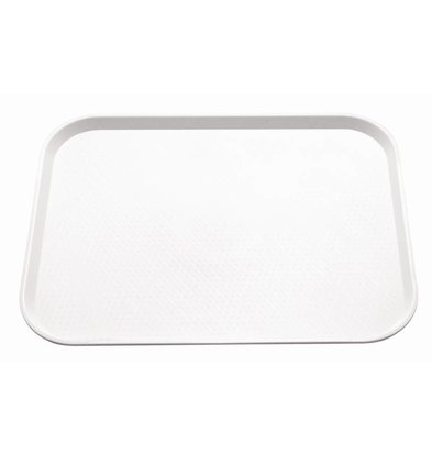 Kristallon Dienblad Ruw Oppervlak | Wit | 415x305mm