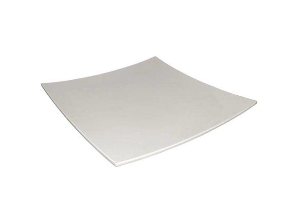 XXLselect Gebogen Vierkant Bord | Wit Melamine | 310x310mm
