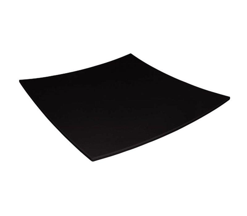 XXLselect Gebogen Vierkant Bord | Zwart Melamine | 310x310mm