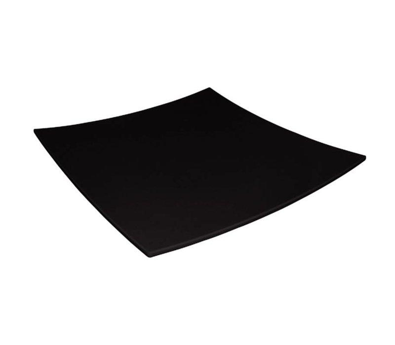 XXLselect Gebogen Vierkant Bord | Zwart Melamine | 420x420mm