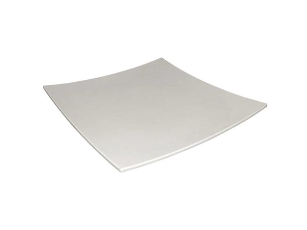 XXLselect Gebogen Vierkant Bord | Wit Melamine | 420x420mm