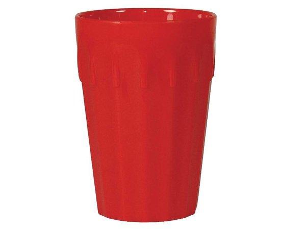 XXLselect Beker Rood   Polycarbonaat   260ml   Per 12 Stuks