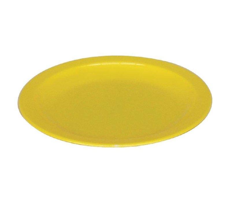 XXLselect Bord Geel | Polycarbonaat | Ø170mm | Per 12 Stuks