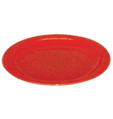 Kristallon Bord Rood | Polycarbonaat | Ø170mm | Per 12 Stuks