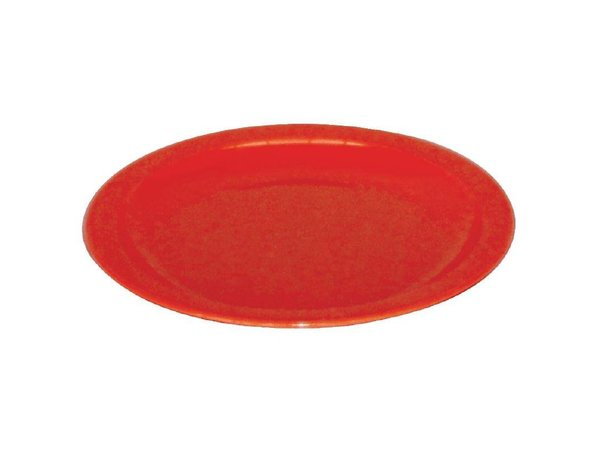 XXLselect Bord Rood | Polycarbonaat | Ø170mm | Per 12 Stuks