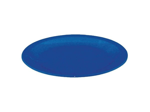XXLselect Bord Blauw | Polycarbonaat | Ø230mm | Per 12 Stuks