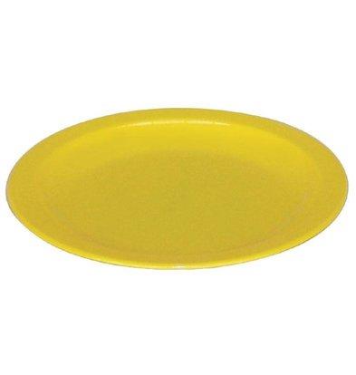 Kristallon Bord Geel | Polycarbonaat | Ø230mm | Per 12 Stuks