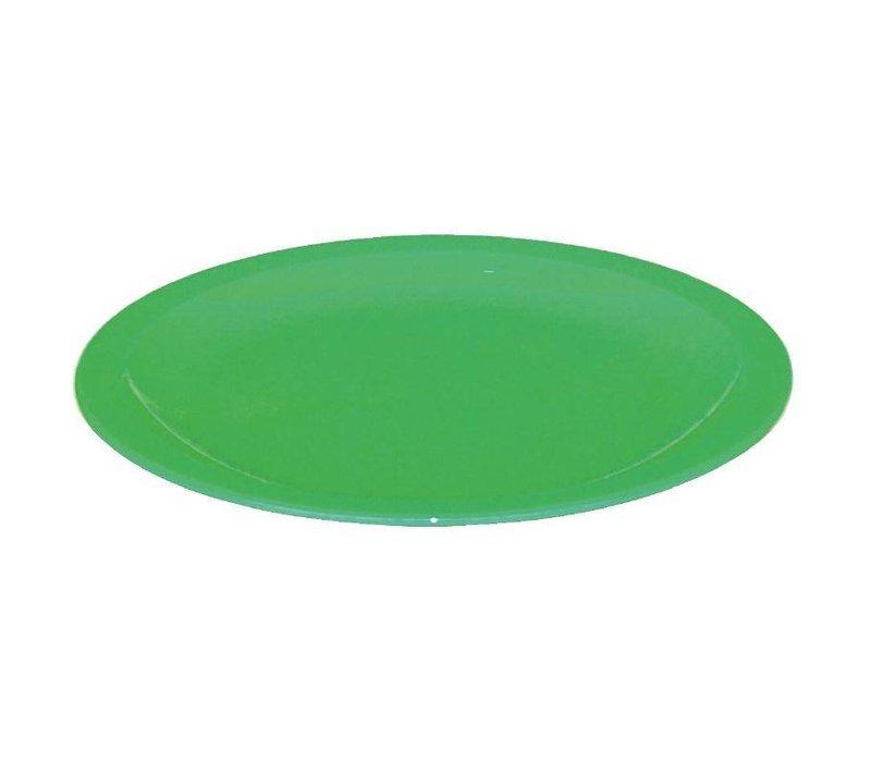 XXLselect Bord Groen| Polycarbonaat | Ø230mm | Per 12 Stuks