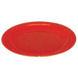 XXLselect Bord Rood | Polycarbonaat | Ø230mm | Per 12 Stuks