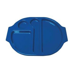 XXLselect Serveerblad Polycarbonaat | Incl. Verdeelschalen | Blauw | Per 10 Stuks