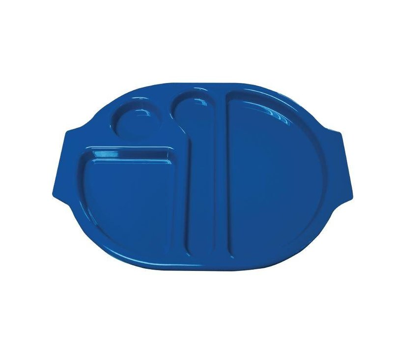 XXLselect Serveerblad Polycarbonaat   Incl. Verdeelschalen   Blauw   Per 10 Stuks