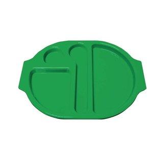 XXLselect Serveerblad Polycarbonaat | Incl. Verdeelschalen | Groen | Per 10 Stuks