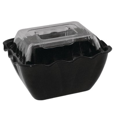 Kristallon Verhoogde Deksel | voor Melamine Schaal 0,75 Liter