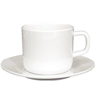 Kristallon Koffiekop | Wit Melamine | 215ml | 12 Stuks