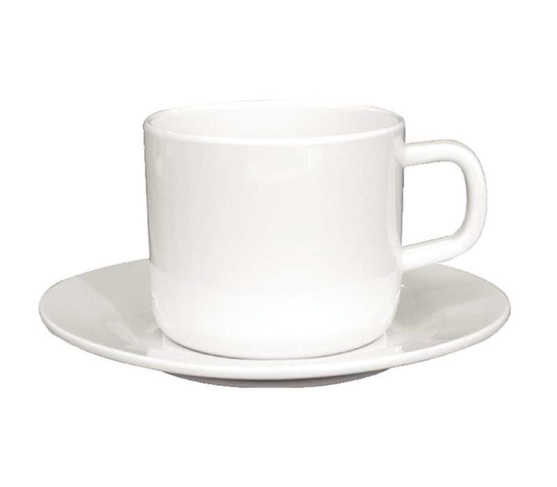 XXLselect Koffiekop | Wit Melamine | 215ml | 12 Stuks